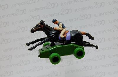 Paard met Jockey Scalextric ( gebruikt )